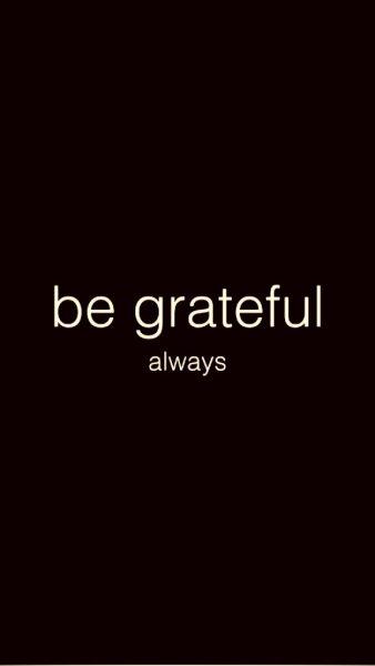 Be Grateful 1