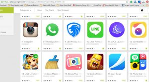 Top Free Hit List Google Play (captured on April 17, 2015)