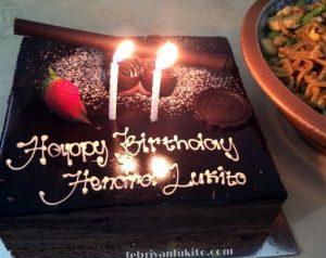 mencari kue ulang tahun di harvest cibubur