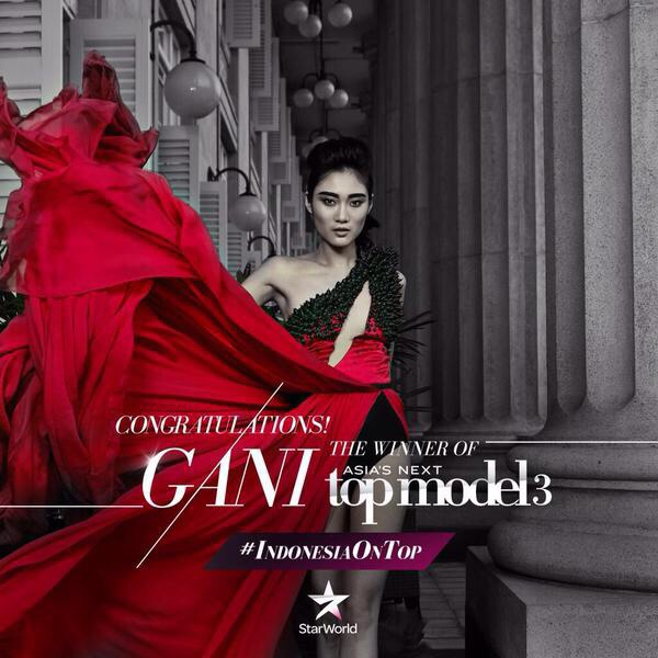 ayu gani pemenang asia next top model