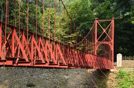 bogor botanical garden red bridge