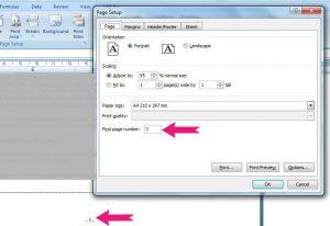 cara setting nomor halaman di microsoft excel agar sesuai nomor kita