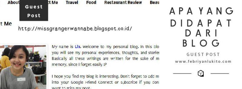 apa yang didapat dari blog guest post