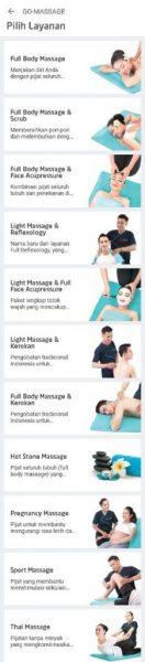 review layanan go massage dari gojek
