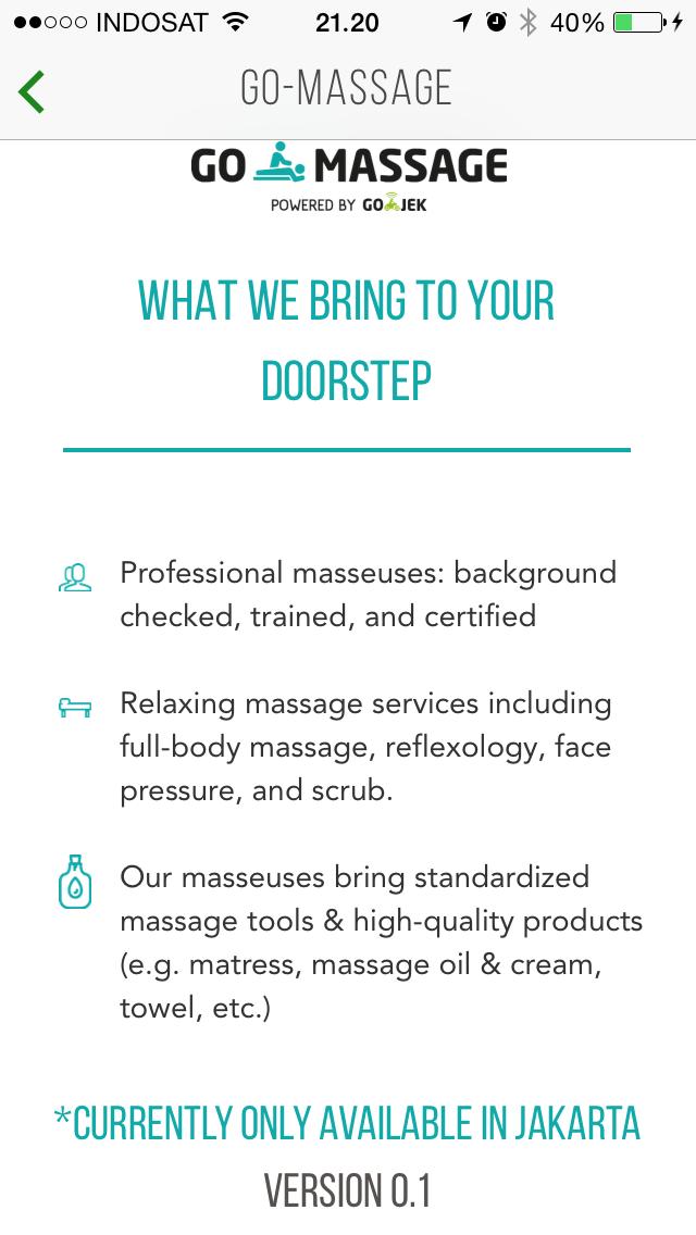 review layanan go massage (go life) go jek