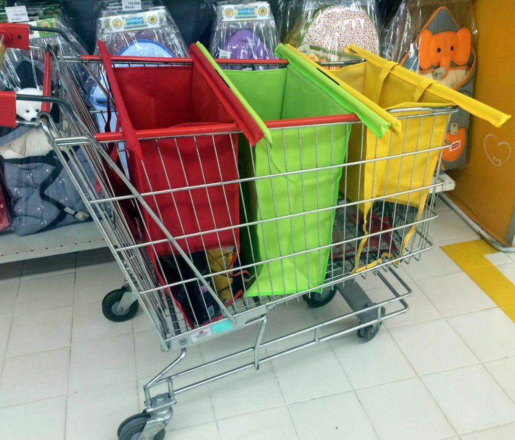 trolley bag dari carefour - aksi peduli lingkungan