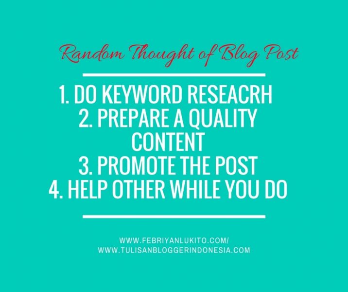 behind the scene - insight of a blog post should be