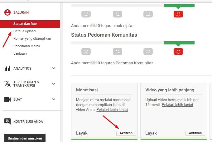 cara mendaftar adsense di youtube