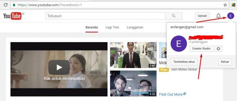 mendaftar adsense di youtube dengan mudah