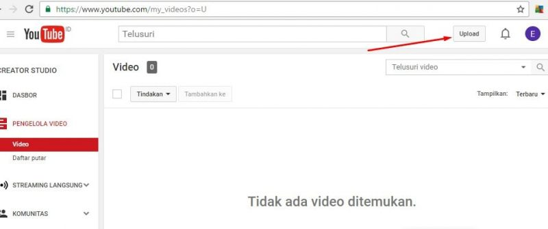 cara upload video di youtube channel