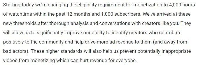 aturan baru youtube untuk monetasi channel menggunakan adsense