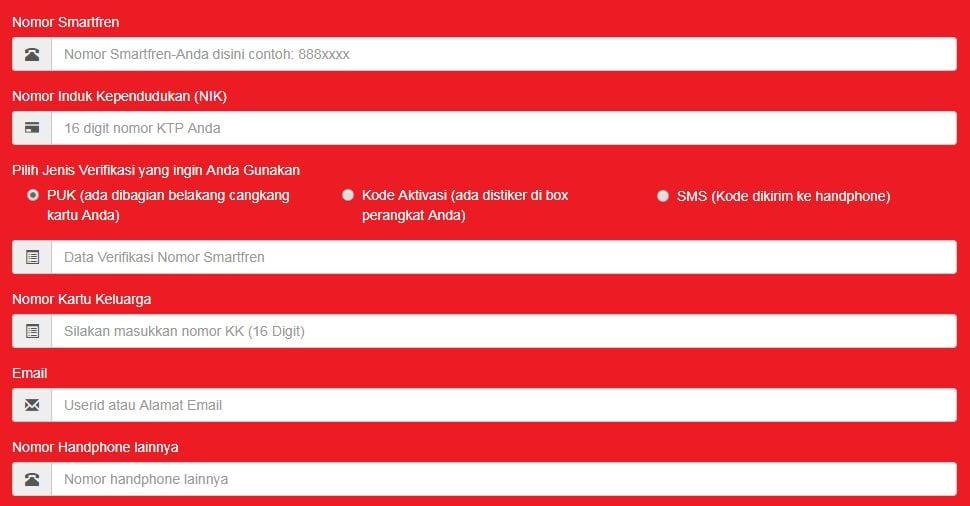 formulir daftar ulang nomor prabayar smartfren modem mifi