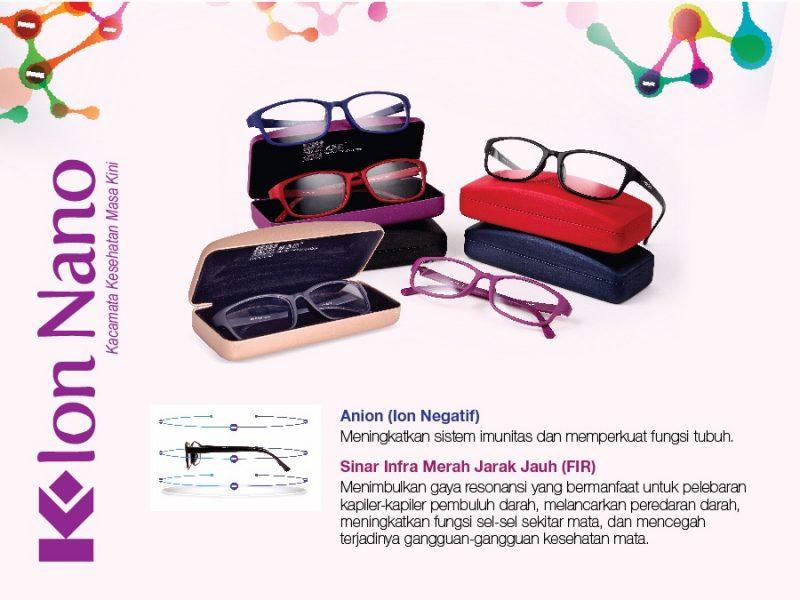 kelebihan kacamata kesehatan k ion nano dari klink indonesia